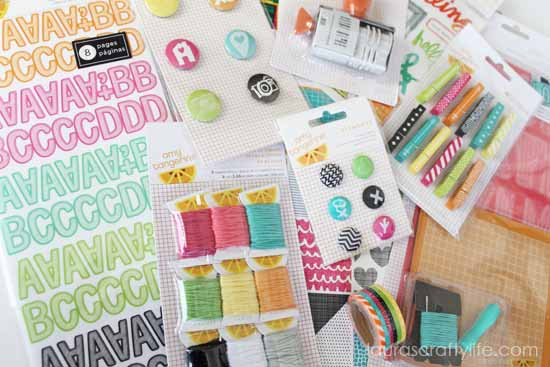 Amy Tangerine Plus One paper craft collection