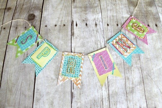 Colorful Spring Banner with Amy Tangerine Plus One