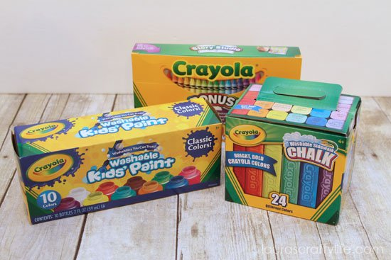Crayola washable paints crayons and sidewalk chalk @Walmart