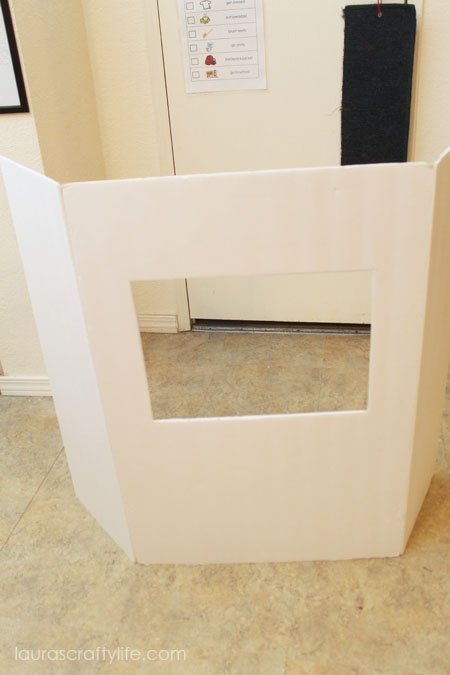 DIY puppet theater from foam core board