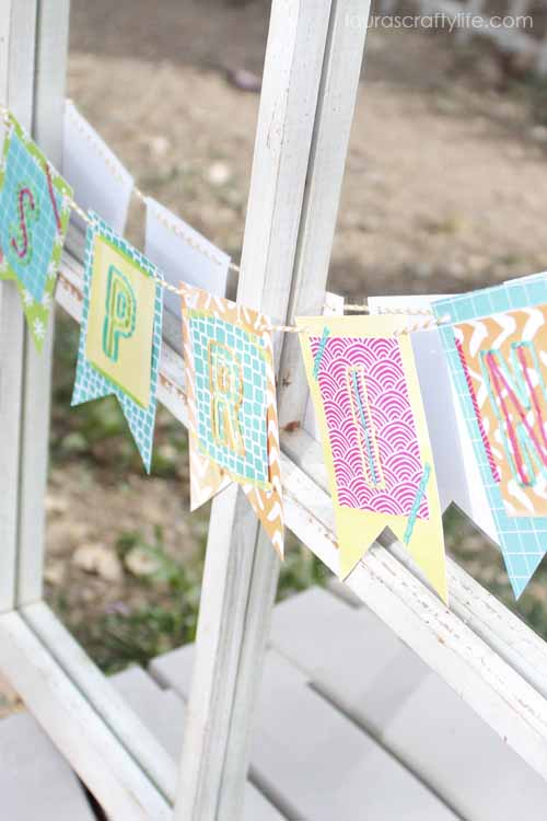 Spring Banner by Laura's Crafty Life