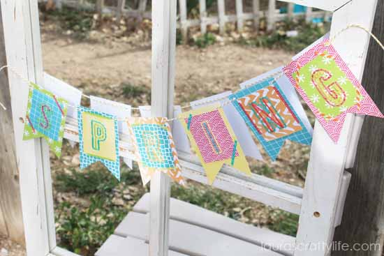 Spring Banner using Amy Tangerine embroidery kit