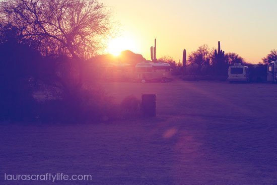 desert sunset after lomo 2