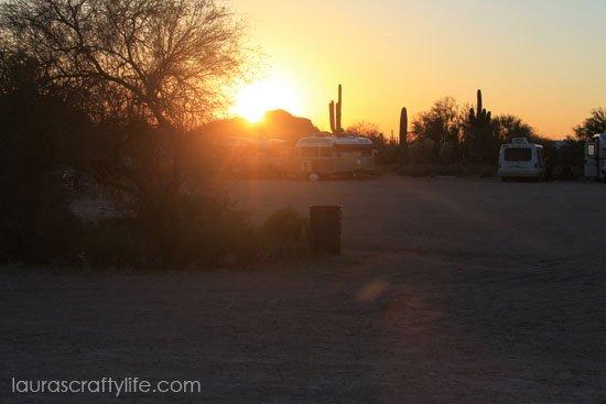 desert sunset before