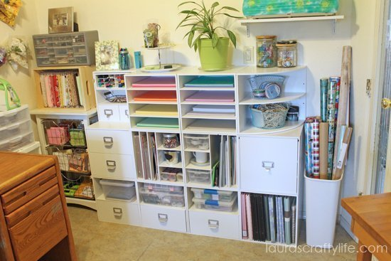Craft storage ideas spring blog hop 2014 laura 39 s crafty life for Recollections craft room storage amazon
