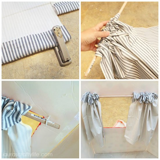 make curtain for puppet show