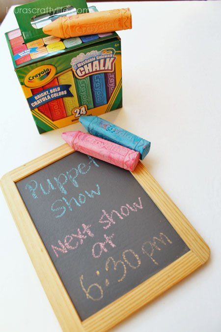 sidewalk chalk display board