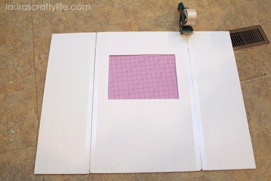 tape foam board together