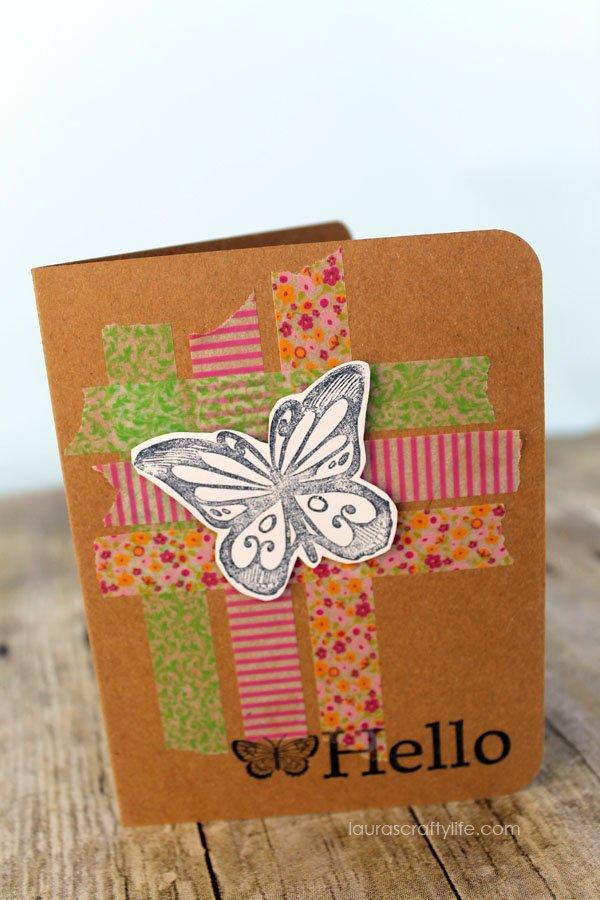 Criss Cross Washi Tape Card