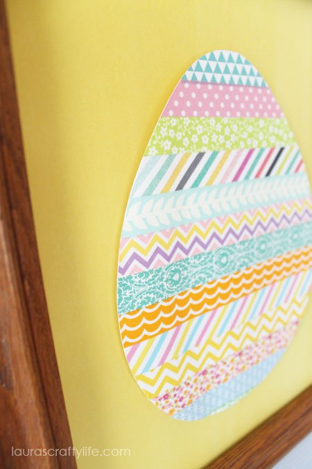 Easter egg art using washi tape