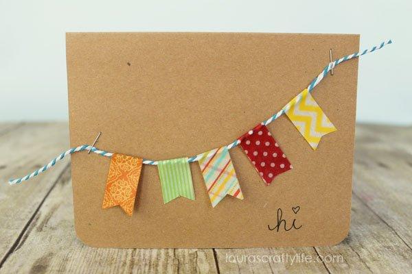 Pennant Banner Washi Tape Card