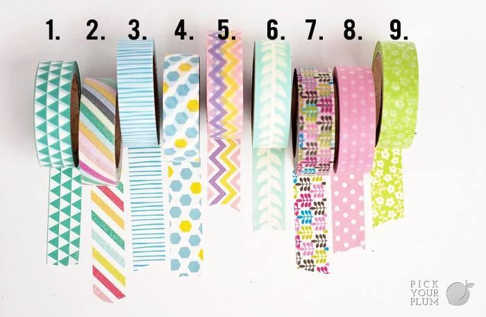 Spring washi tape