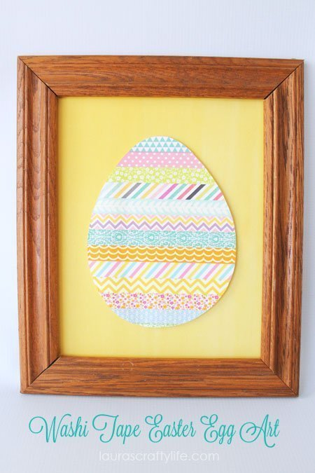Washi Tape Easter Egg Art