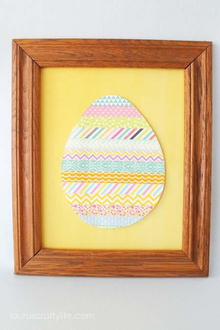 Washi Tape Easter Egg by Laura's Crafty Life