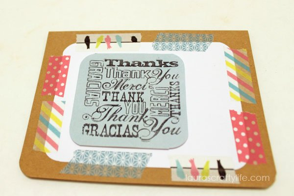 add stamped sentiment to card