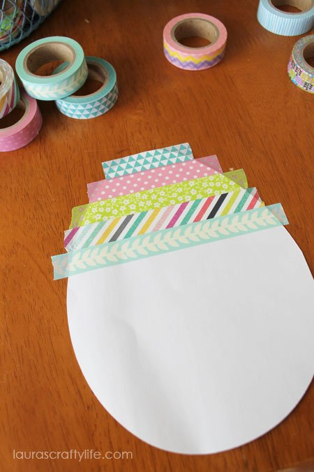attach strips of washi tape