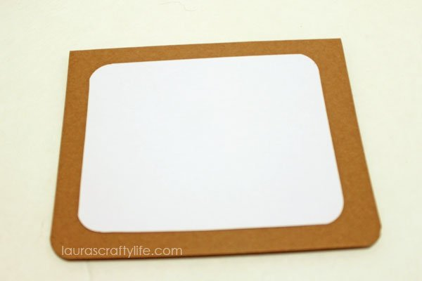 attach white card stock to card