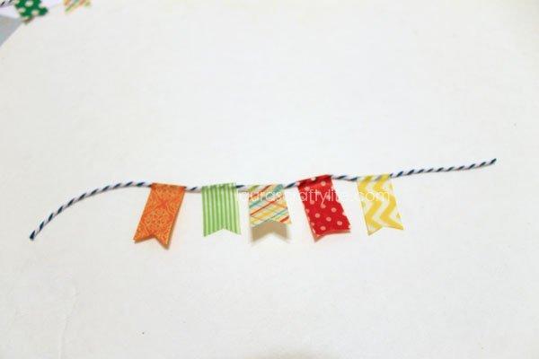 create a washi tape banner