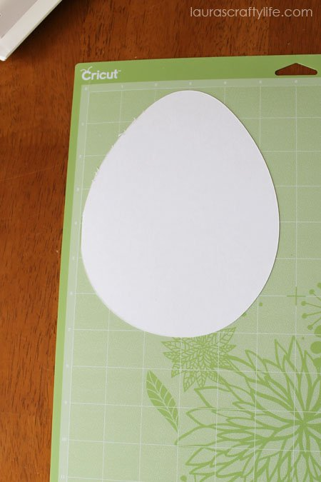 egg shape cut with Cricut