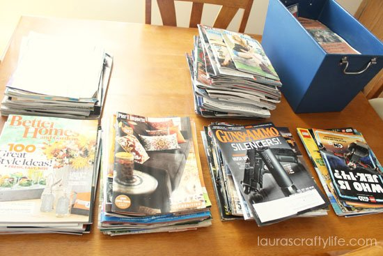 gather all magazines and catalogs to be sorted