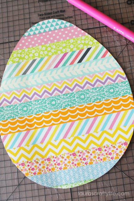 trimmed washi tape egg