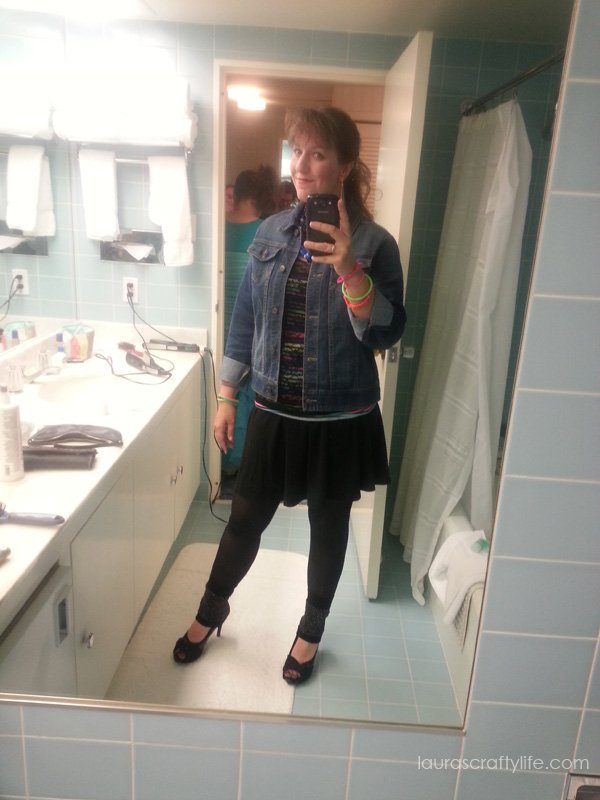 Bathroom selfie for Snap Conference - 80s Prom