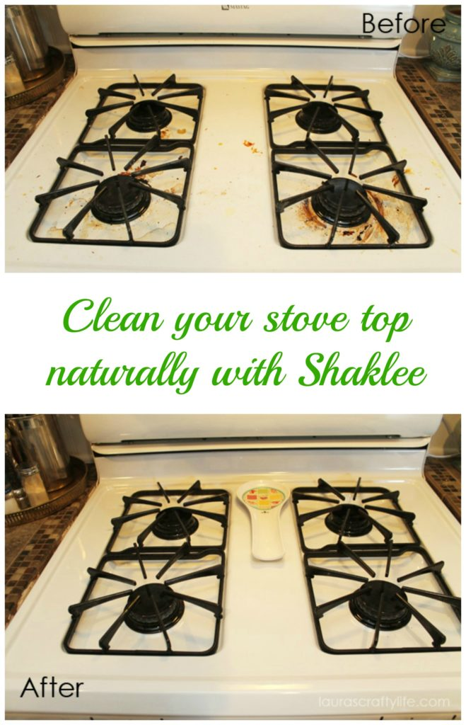 Clean your stove top using Basic H and Scour Off