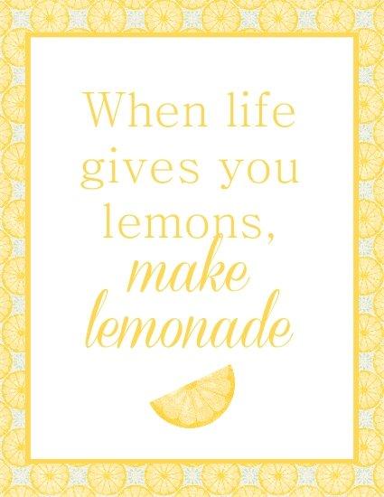 Make Lemonade free printable - Laura's Crafty Life