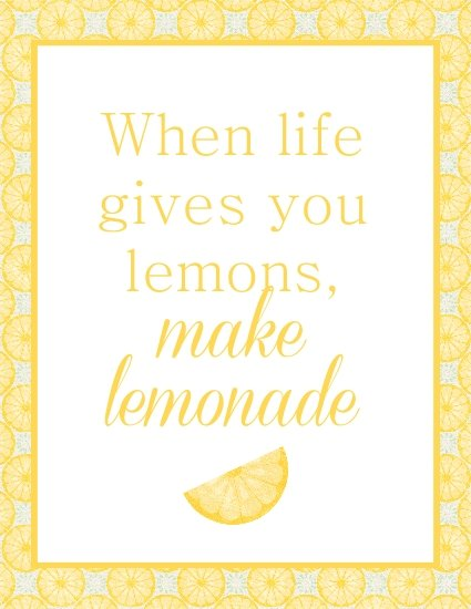 Make Lemonade free printable - Laura's Crafty Life
