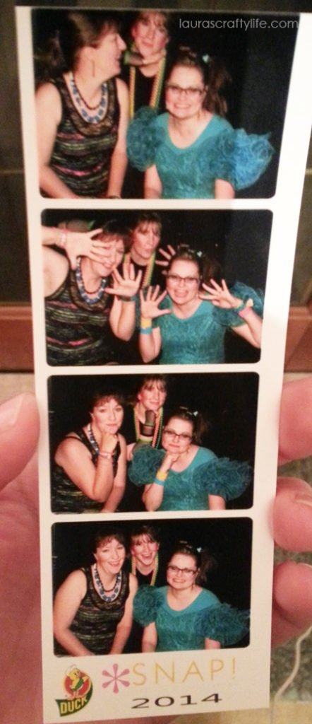 Photo strip from 80s prom