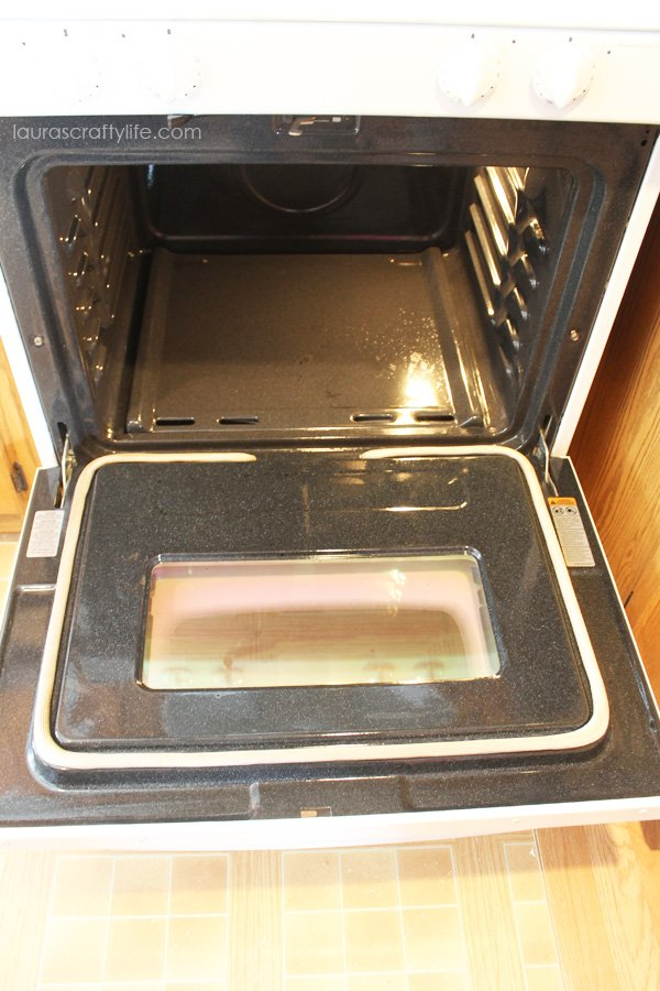 oven after cleaning with Basic H and scour off