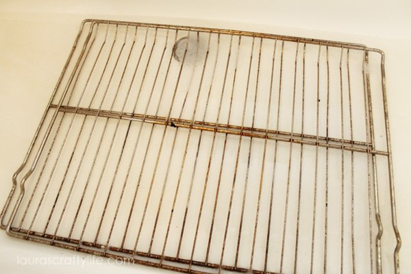 soak oven grates with Basic H