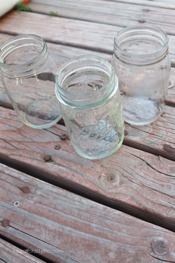 thoroughly wash mason jars
