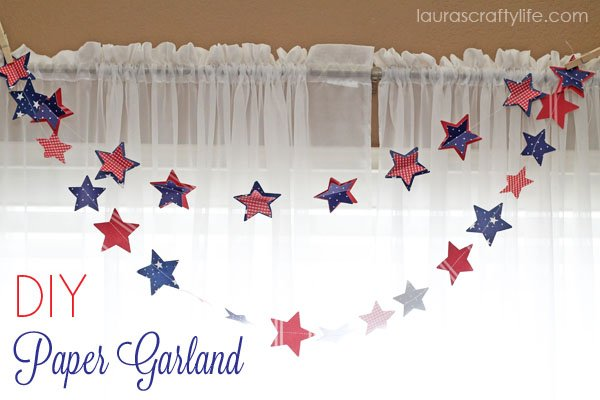 DIY Paper Garland via Laura's Crafty Life