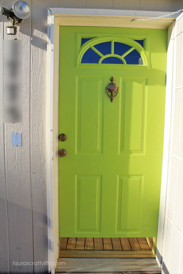 Front Door painted with Modern Masters 'Fortunate'