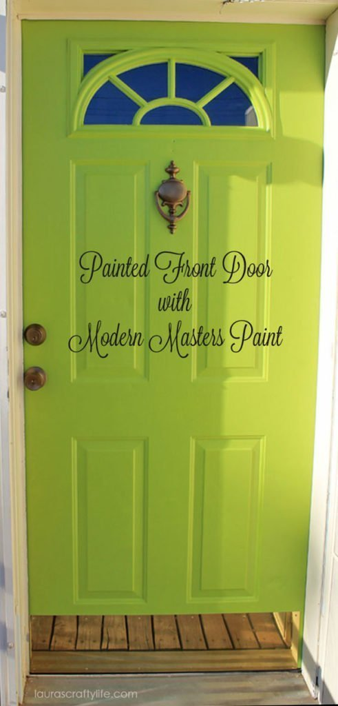 Painted Front Door with Modern Masters Paint