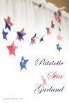 Patriotic Star Garland {Laura's Crafty Life}