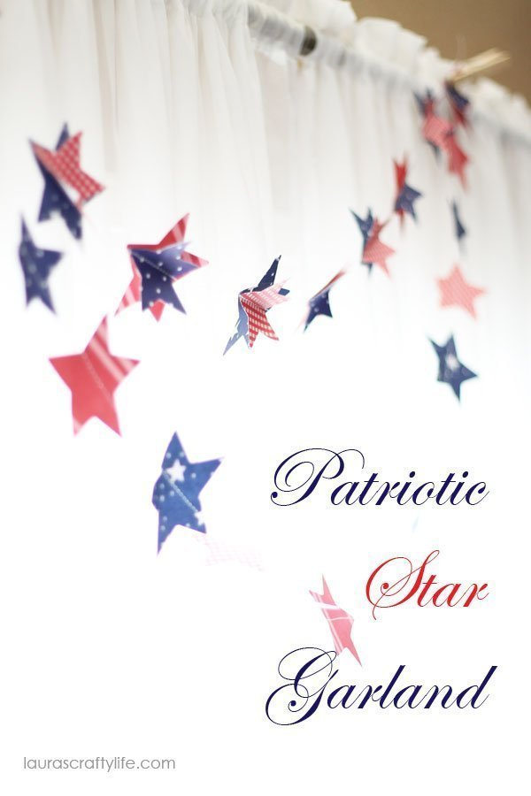 Patriotic Star Garland {Laura's Crafty Life}