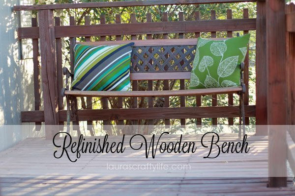 Refinished Wooden Bench {Lauras Crafty Life}