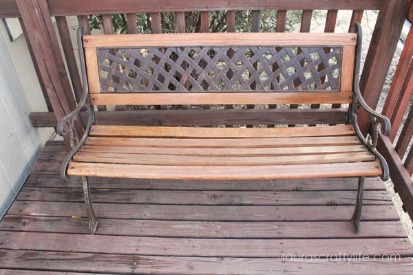 Refinished Wooden Bench Laura S Crafty Life