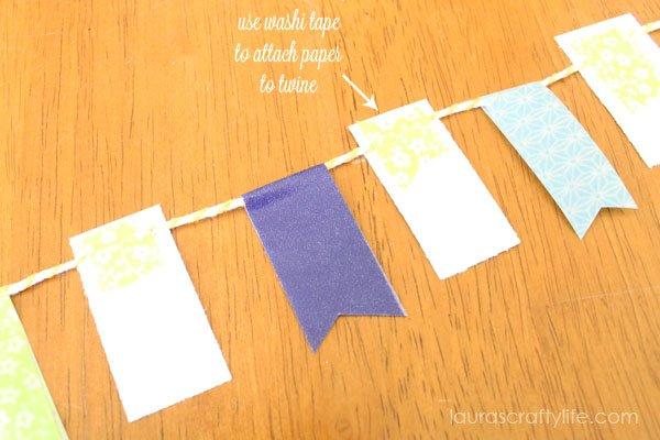 assemble washi tape banner