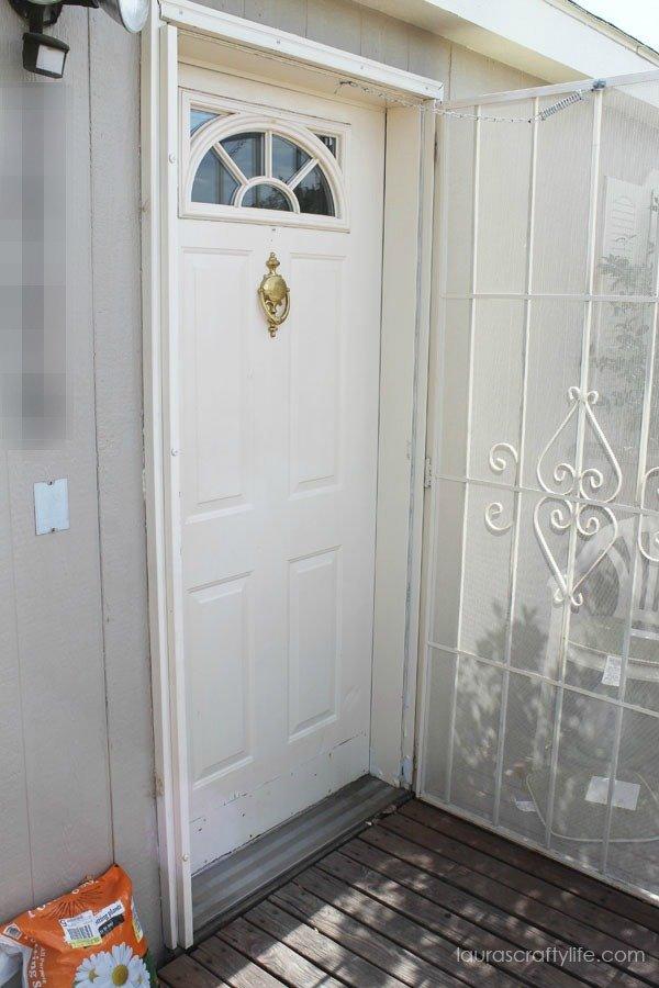 before paint front door