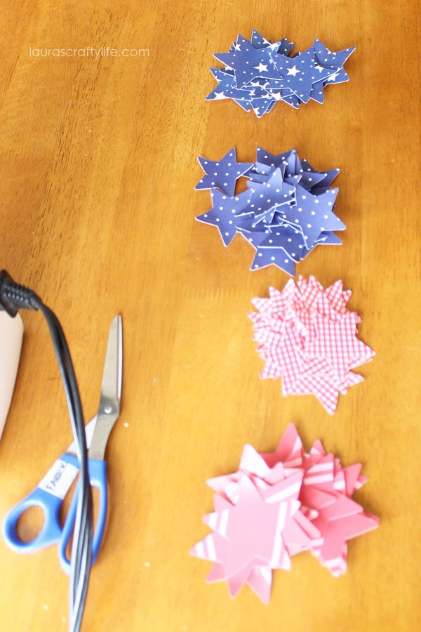 cut out star shapes