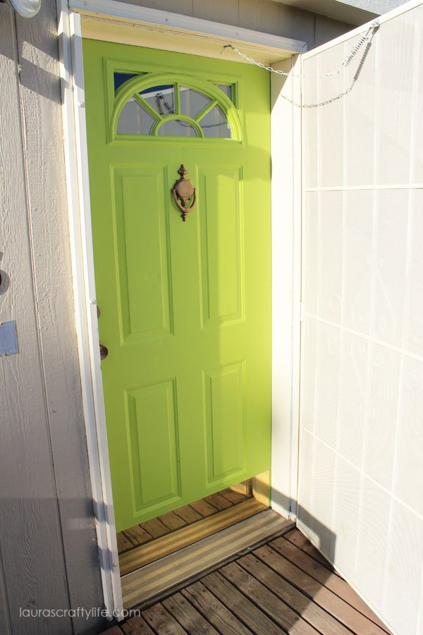 front door after Modern Masters paint
