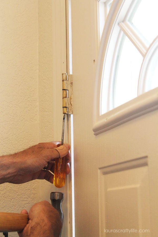 remove pins from door hinges