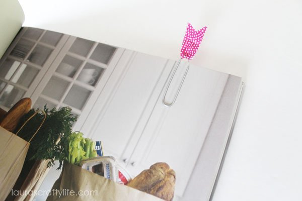 Paperclip Washi Tape Bookmark via Laura's Crafty Life