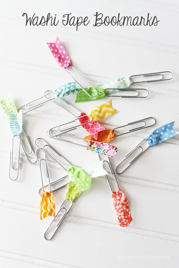 Washi Tape Bookmarks via Laura's Crafty Life