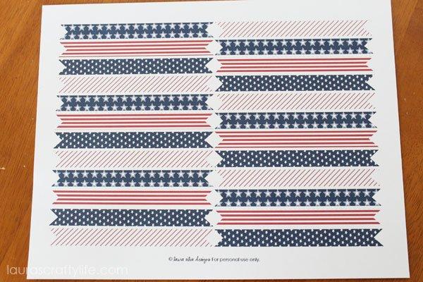 print straw flags