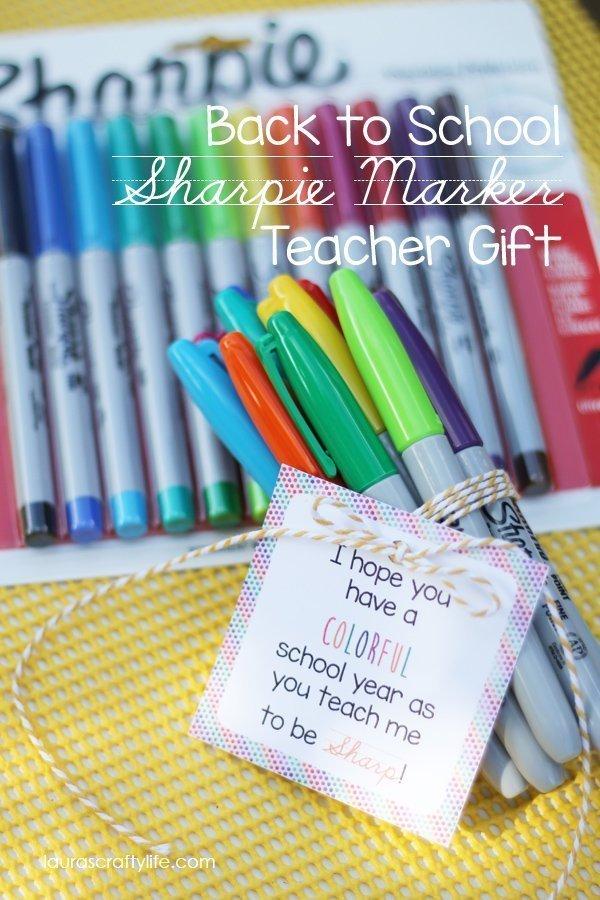 Back to School Sharpie Marker Teacher Gift - Laura's ...