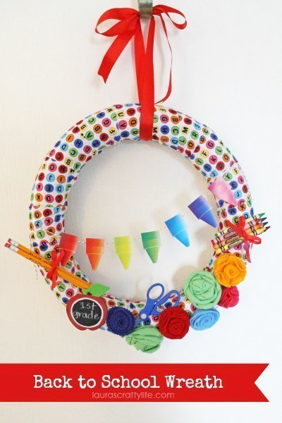 Back to School Wreath by Lauras Crafty Life